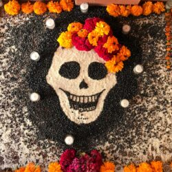 Day of the Dead traditions - sand tapestry
